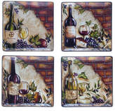 Certified International Wine Cellar Set of 4 Dinner Plates