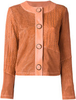 Drome collarless leather jacket - women - Lamb Skin/Acetate/Cupro - XS