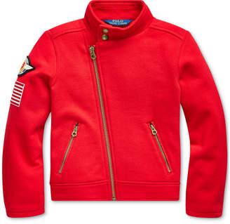 Polo Ralph Lauren Toddler Girl Cotton-Blend Fleece Moto Jacket