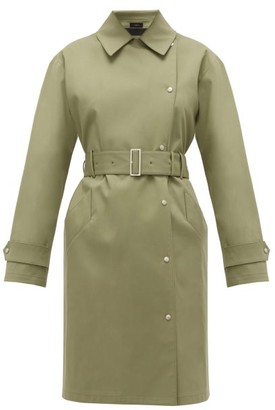 Joseph Conley Bonded Cotton-blend Trench Coat - Light Green