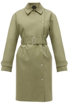 Joseph Conley Bonded Cotton-blend Trench Coat - Womens - Light Green