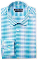 Geoffrey Beene Blue Textured Check Fitted Shirt