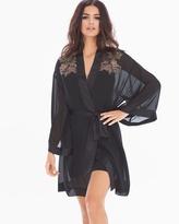 Soma Intimates Lace Affaire Short Robe Black