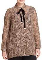 Marina Rinaldi Bilia Leopard Print Sheer Shirt
