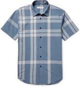 Burberry - London Slim-fit Checked Cotton-seersucker Shirt