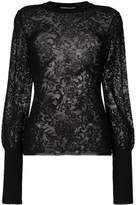 Givenchy sheer embroidered knitted top