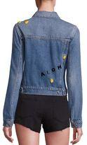 Paige Wylder Aloha Pineapple Embroidered Denim Jacket