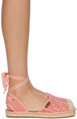 Fendi Pink Forever Ankle Strap Espadrilles