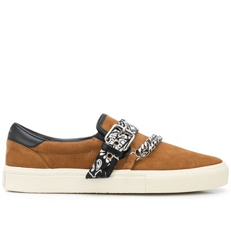 Amiri Bandana Chain Slip-On Sneakers