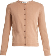 Valentino Lace-panel wool and cashmere-blend cardigan