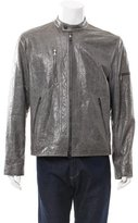 John Varvatos Distressed Leather Jacket