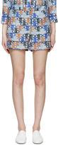 Emilio Pucci Blue Monogram Pyjama Shorts