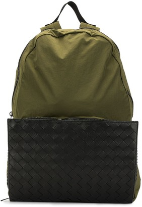Bottega Veneta Intrecciato weave detail backpack