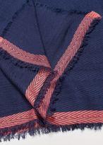 Violeta BY MANGO Contrast trim scarf