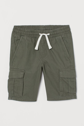 H&M Cotton Cargo Shorts - Green