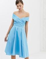 Closet London Closet Cross Over Panelled Dress