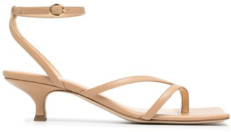 A.W.A.K.E. Mode Square-Toe Heeled Sandals