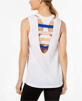Jessica Simpson TheWarmUp Juniors' Strappy-Back Logo Tank Top