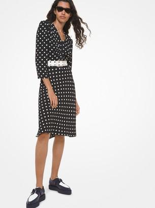 Michael Kors Polka Dot Crepe Sable Dress