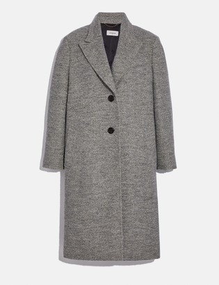 Coach Herringbone Oversized Coat