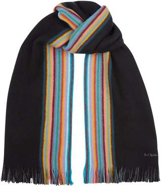 Paul Smith Wool Reversible Stripe Scarf