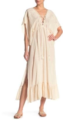Z&L Europe Kimono Sleeve Maxi Dress