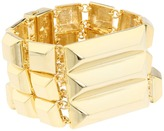 Vince Camuto Golden Edge Square Pyramid Stud Link Bracelet (Gold) - Jewelry