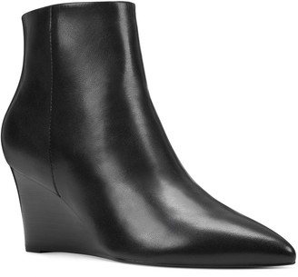 Nine West Carter Women's Leather Wedge Boots