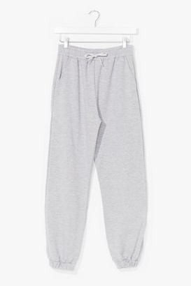 Nasty Gal Womens It'll Work Out High-Waisted Joggers - Grey - XL