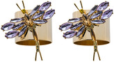 Joanna Buchanan Dragonfly Napkin Ring - Set of 2 - Violet