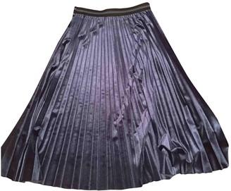 Blumarine Blue Velvet Skirt for Women