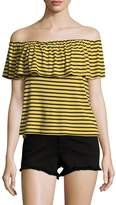 Splendid Women's Striped Off Shoulder Tee