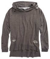 Ten Sixty Sherman Girl's Sequin Patch Deconstructed Hoodie