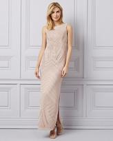 Le Château Sparkle Knit & Sequin Open Back Gown