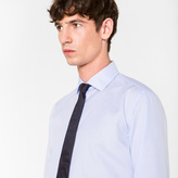 Paul Smith Men's Tailored-Fit Sky Blue Stripe 'Artist Stripe' Double-Cuff Shirt