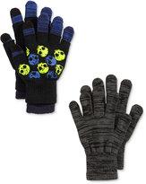 London Fog 3-Pk. Skulls Fingerless & Texting Gloves Set, Big Boys (8-20)