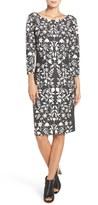 Eliza J Petite Women's Jacquard Knit Sheath Dress