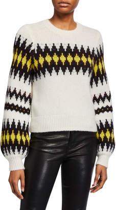 A.L.C. Badgley Fair Isle Crewneck Sweater