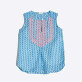 J.Crew Factory Girls' printed embroidered top