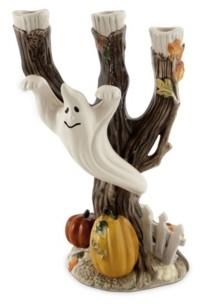 Fitz & Floyd Halloween Harvest Ghost Candleholder
