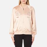 Alexander Wang Women's Souvenir Jacket with Threadwork Embroidery Blush