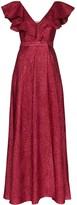 Vika Gazinskaya V-neck ruffle maxi dress
