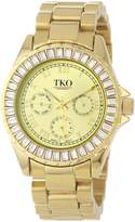 TKO ORLOGI Women's TK520-GD Capri Metal Swarovski Crystal Watch