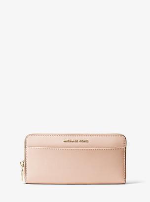 MICHAEL Michael Kors MK Saffiano Leather Continental Wallet - Soft Pink - Michael Kors