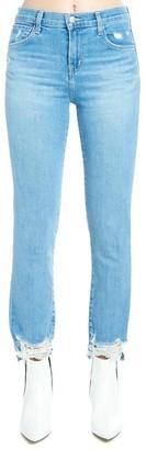 J Brand Destroyed Hem Jeans