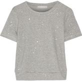 Kain Label Violet Printed Cotton-Blend Top