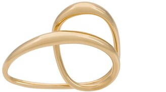 Charlotte Chesnais Heart two-finger gold-plated ring