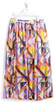MSGM geometric print skirt