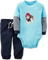 Carter's 2-Pc. Layered-Look Dog Bodysuit & Pants Set, Baby Boys (0-24 months)