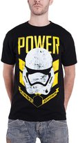Star Wars T Shirt Stormtrooper First order Power new Officia Mens Back
